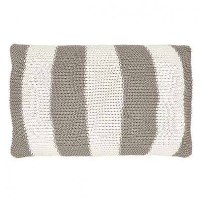 Kuddfodral Stickat stripe warm grey - GreenGate