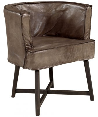 Monique Armchair Leather Lampré - Artwood