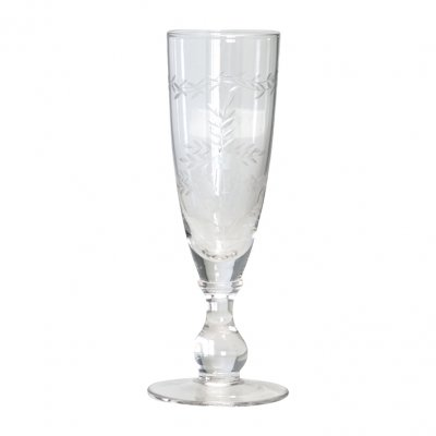 Champagne glass with cutting clear - GreenGate