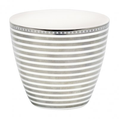 Lattemugg Stripe, silver - GreenGate