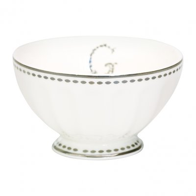 French bowl G, silver medium - GreenGate