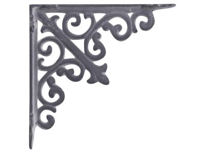 Shelf bracket Fleur de lis, antique grey - Chic Antique