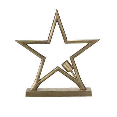 Star in metal rawbrass for table 45cm - PR Home