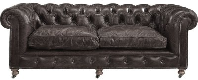 Soffa Kensington, 2,5-sits, Leather Fudge - Artwood