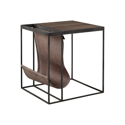Magazine sidetable Carbon/lampre - Artwood
