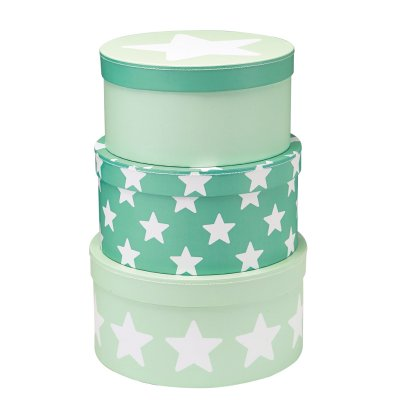 Pappbox Star, mint, 3-pack - Kids Concept
