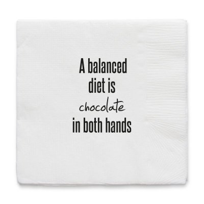 Napkin A balanced diet is... - On Interiör