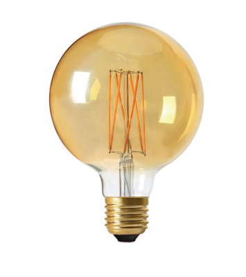 Elect LED Filament Globe 125mm, E27, 2,5W gold - PR Home