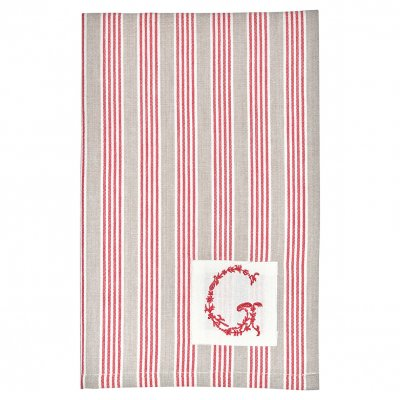 Tea towel Nora red, 50x70 cm - GreenGate