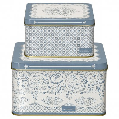 Plåtburk Jenny dusty blue, 2-pack - GreenGate