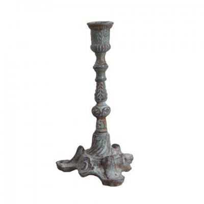 cast-iron-candlestick-greyish-green
