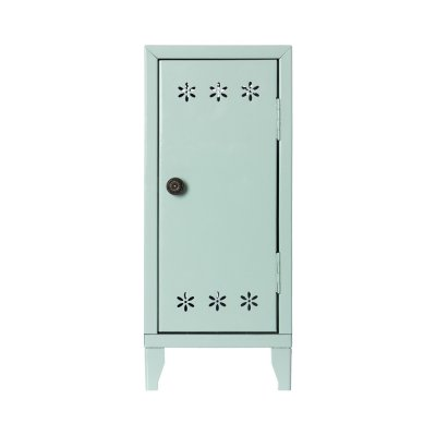 Locker w 3 hangers, light turquoise - Maileg