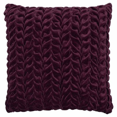 Kuddfodral Braided Plum, 45x45 cm - GreenGate