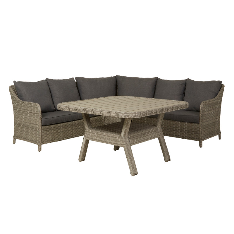 Lounge Group Miami Incl Pillows Corner Sofa Coffee Table Gray Easy Living