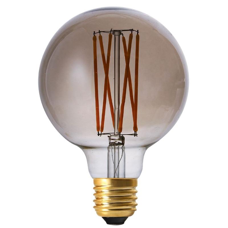 Elect LED Filament Globe 95mm, E27, 4W, smoke Pr Home