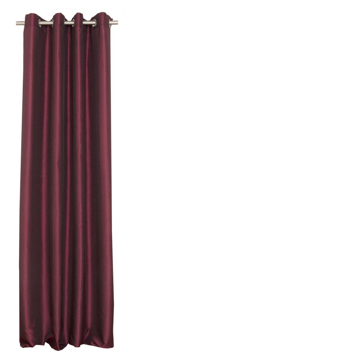 Curtain 2 Pcs Taffeta Wine