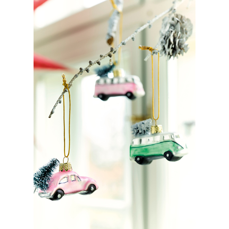 Christmas Tree Colour Schemes 2014: Christmas Ornament Car With Tree, Two Colors
