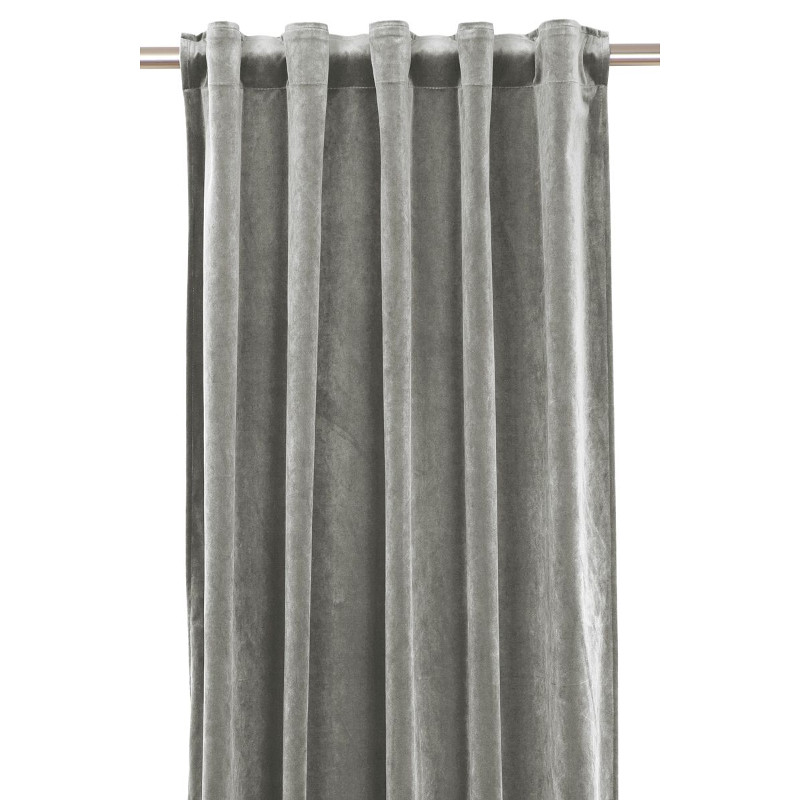 Curtain Velvet Grey 135x280 Cm 2 Pcs